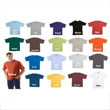 Plain Springy 65 Polyester 35 Cotton T Shirt