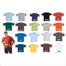 Camisa de algodão 65 moletom simples de poliéster 35