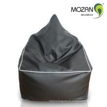 Chaise en sac de haricots de renommée internationale en cuir véritable avec haute qualité