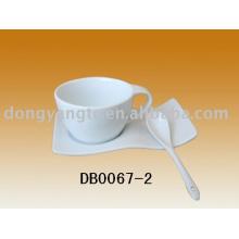 conjunto de xícara de café de porcelana