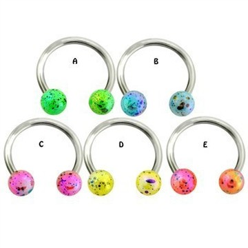 Multicolored Splatter Balls Horseshoe CBR
