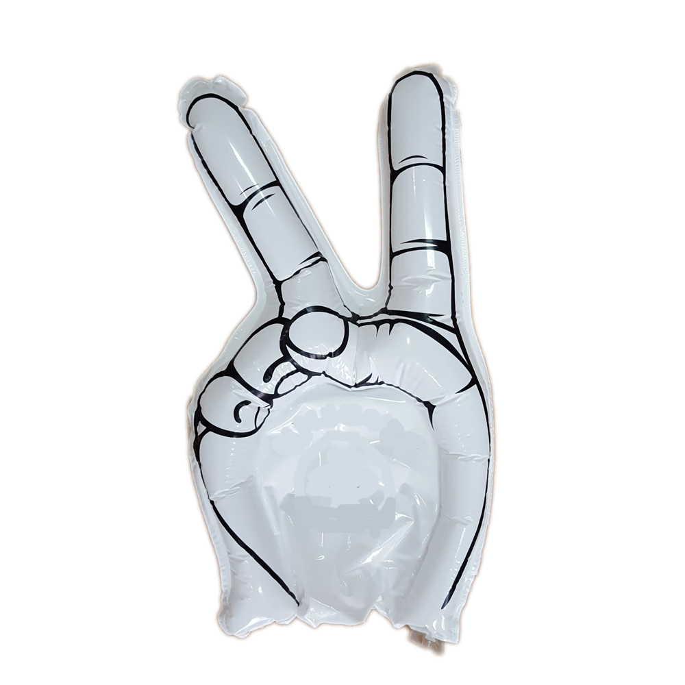 Inflated V Gesture Wave Finger Cheering Stick
