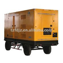 Gerador a diesel de baixo ruído e tipo móvel