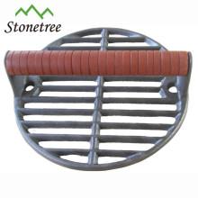 20cm cast iron round bacon press