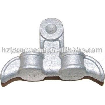 Abrazadera de la suspensión de la aleación eléctrica de aluminio por inmersión en caliente piezas de metal eléctricas galvanizadas del polo poste de la línea de conexión de hardware