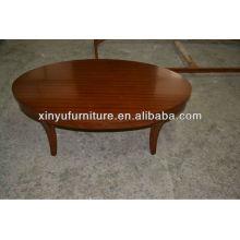 Mesa de café de madeira maciça oval XY0819