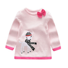 New Fashion Autumn Winter Hollow Pullover Baby Sweater Kids Girls Knitted Sweater for Girls Sweaters Dress