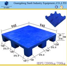 Taille standard de palette en plastique de plate-forme solide de HDPE de 9 pieds