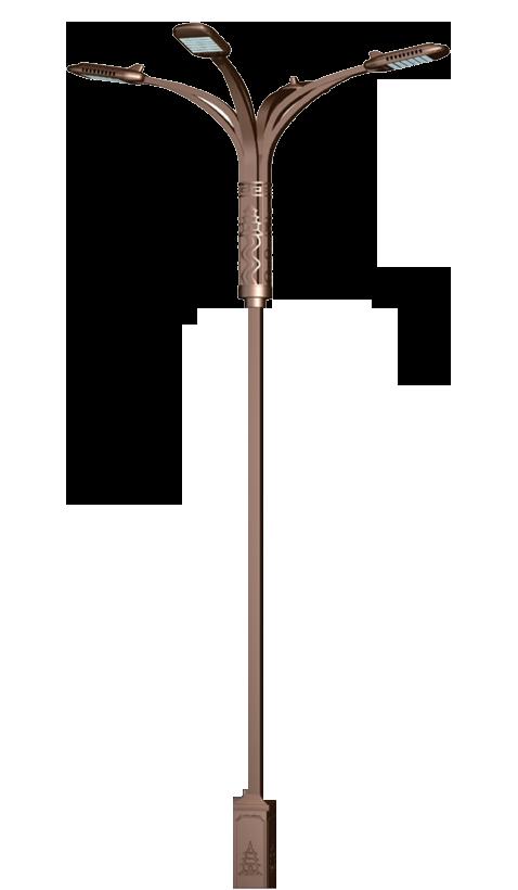 street light pole angle