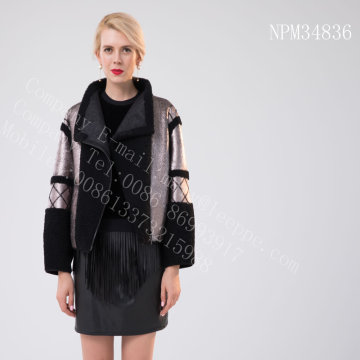Short Espanha Merino Shearling Jacket For Women