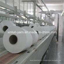 Polyester Spun Yarn Ne 21/1 pour fil de couture en polyester