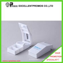Logo imprimé promotionnel Distributeur de pilules en plastique avec coupeur (EP-P0903)
