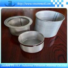 Cilindro de filtro de aço inoxidável 316L