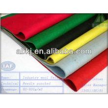 Fieltro de lana de color no tejido perforado con aguja