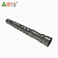 Embossed Stainless Steel Floral Pipe Swaging Pipe Threaded Tube