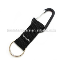 Fashion High Quality Metal Black Carabiner Keychain Strap