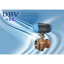Ce Ts Pneumatic Wcb Trunnion Mounted Metal Seat Ball Valve