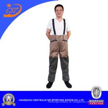 Men′s cintura respirável Wader de pesca com peso leve
