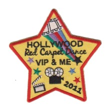 Patch de bordado de celebração criativa de Hollywood