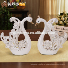 Фабрики керамическая статуэтка лебедь для дома украшения керамических ремесел и искусств Стрежевой фарфоровые керамические подарок