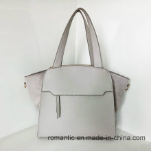 Guangzhou Fornecedor Moda Lady PU Leather Plush Handbags (Z-015)