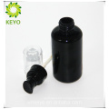 Cosmetic packaging foundation pump black 100ml cylinder glass bottle with pump