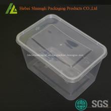 Klare Aufbewahrungsboxen aus Kunststoff in Rechteckform