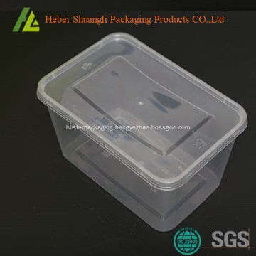 Clear rectangle shape plastic storage boxes