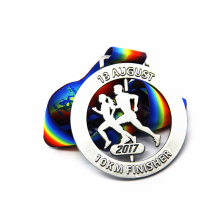 Online Manufacturer for for Marathon Award Medals Custom Circular Feature Rotating Marathon Medal export to Italy Manufacturers
