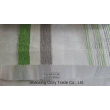 Новый популярный проект полоса Organza Voile Sheer Curtain Fabric 0082128