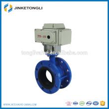 PTFE lined Pneumatic double flange butterfly valve JKTL BT64L