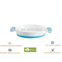 panadero ovalado de cerámica con mango de silicona y base