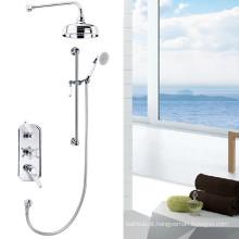 Venda quente Triple handles Misturador de duche tradicional com cabeça de 8''shower TMV