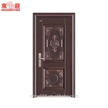 Puerta de seguridad de acero galvanizada de la puerta principal del panel de la piel de la puerta principal del nuevo diseño