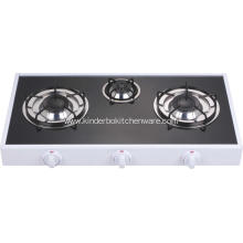 3 Burner Mirror Glass Top Europe Cooker