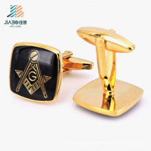 Free Design Alloy Casting Wedding Decoration Custom Gold Cufflink