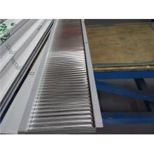1100/3003 Folha de alumínio de lado único e painel ondulado