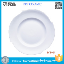 Cheap Irregular Shape High White Ceramic Plate