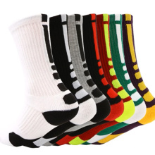 Outdoor Breathable Cycling Basketball Men Terry Crew Sports Spandex Nylon Cotton Socks