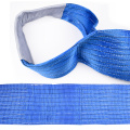 8 Ton 7M Or OEM Length 240MM Width Synthetic Eye And Eye 7T Webbing Lifting Belt Sling Blue Color Safety Factor 8:1 7:1 6:1