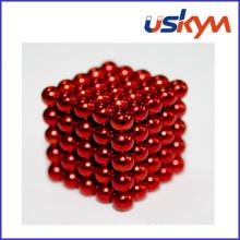 Revestimento vermelho 125 bolas magnéticas de Buckyballs (T-015)