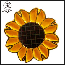 Pin di girasole oro badge metallo spilla
