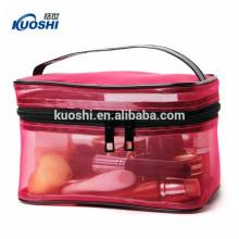 sac cosmétique clair transparent de PVC avec le logo