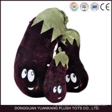 Одобренное en71 оптом баклажан в форме растительного подушка плюшевые игрушки