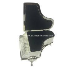 Silber Schmuckschatulle, Klavier Design Schmuckschatulle