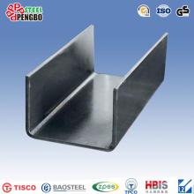 Tamaños de canal de acero de canal de acero / U de ASTM A53 leve