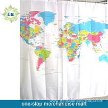 The World Printed Polyester Shower Curtain