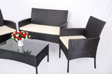 Patio/tuin meubilair ingesteld rotan & rieten meubels