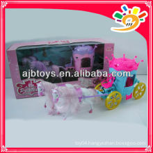 B/O carriage toy pulling cartoon horse carriage toy for kids