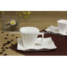 Irregular shape ceramic cheap bulk tea cups and saucers